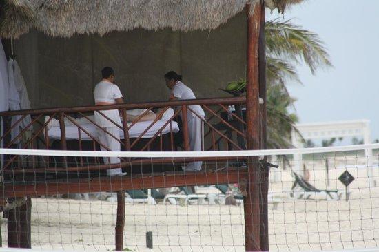 El Dorado Casitas Royale, by Karisma:                   Massage on the beach                 