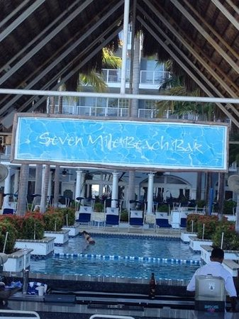 Grand Cayman Beach Suites:                   seven mile bar swim on up or walk on down the other side