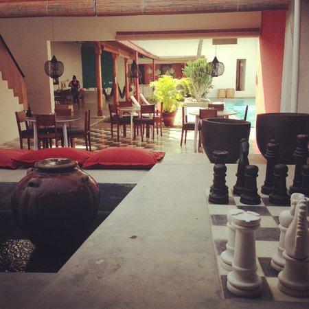 Los Patios Hotel:                   Living area / pool