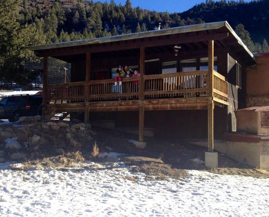 Sipapu Ski & Summer Resort:                   On the deck!