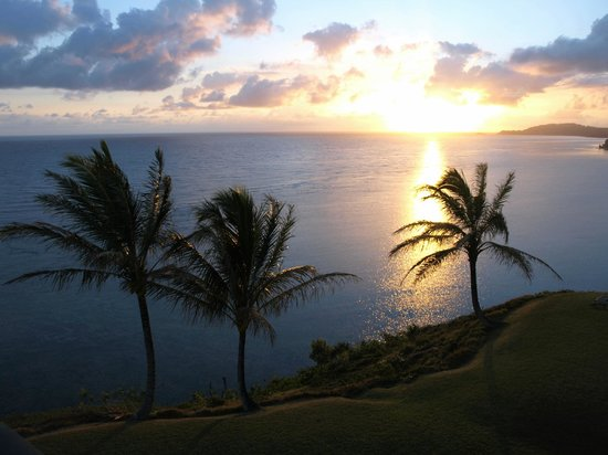 Sealodge at Princeville: Watching sunrise from C8 unit