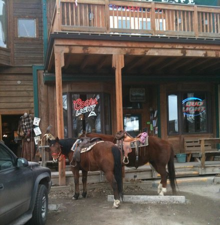 True Grit Cafe :                   Ranchers Stopped in for a Brew