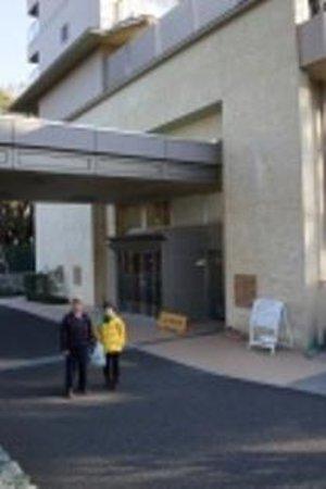 Kyukamura Minami-Izu: 玄関前にて