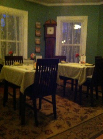 The Chadwick Bed & Breakfast:                   Breakfast area