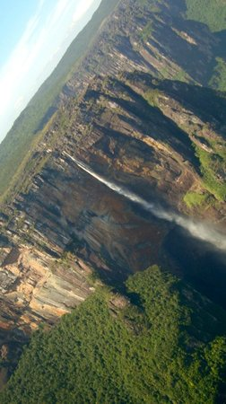 Angel Falls : Angel's Falls as the plane does is second round