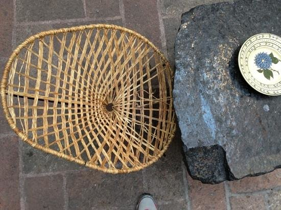 Hotel Los Arcos:                   handwoven chair in courtyard