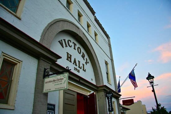 Scottsville, VA:                   Historic Victory Hall (c. 1918) - Community Arts Center (dance, theater, class