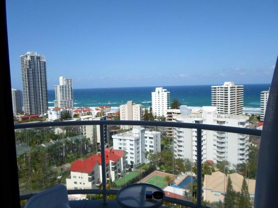 Crowne Plaza Surfers Paradise: View from main balcony of spa suite