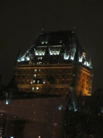 Hotel 71:                   Chateau Frontenac from our room