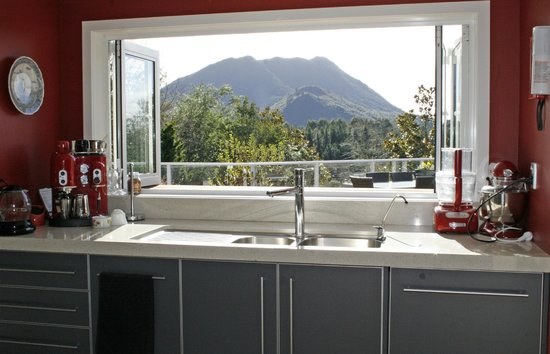 Kauri Point: View from the kitchen window
