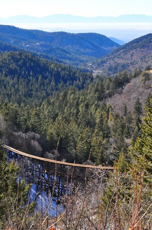 The Lodge Resort and Spa : Mexican canyon old railroad trestle outside Cloudcroft,NM
