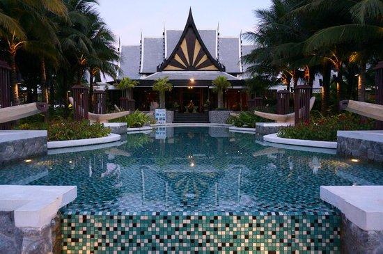 Natai Beach Resort & Spa, Phang-Nga: View of Hotel Lobby from the Pool
