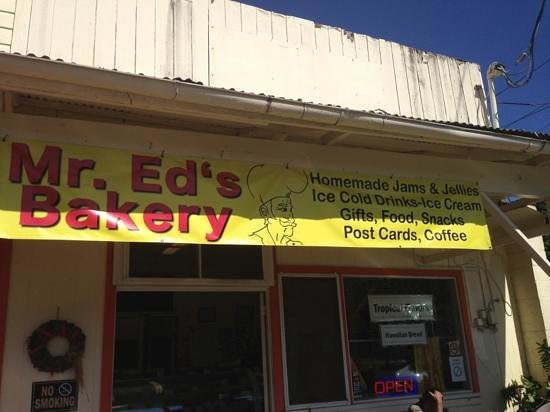 Mr. Ed's Bakery: Ed's after a visit to Akaka falls.