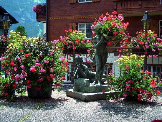 Hotel Gletschergarten: Terrasse
