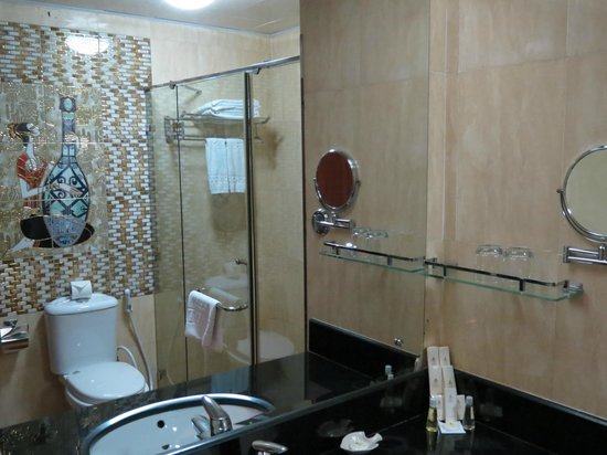 Lux Riverside Hotel & Apartments: Glassed in Shower
