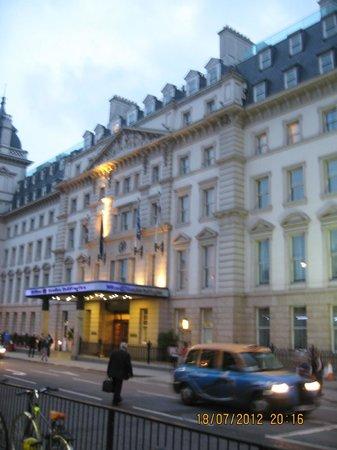 Hilton London Paddington: Hotel view from across the road