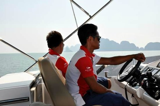 Andaman Day Cruises :                   Skipper and first mate