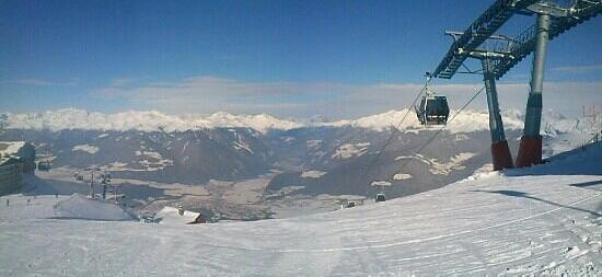 Residence Garni Rautal: great view from the top of Kronplatz