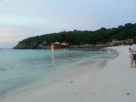 The Racha:                   quiet beach in the evenings