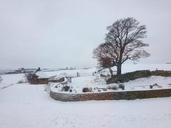 Smallshaw Farm Cottages:                   View from one of the bedrooms at Birch Cottage