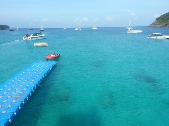 The Racha:                   stunning clear blue water- awesome for snorkeling
