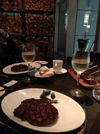 Wooloomooloo Prime (Tsim Sha Tsui):                   150 day steak at the back, 200 day steak in foreground