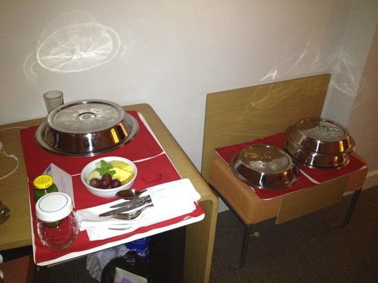 Novotel Vilnius:                   our dinner ,Room Service