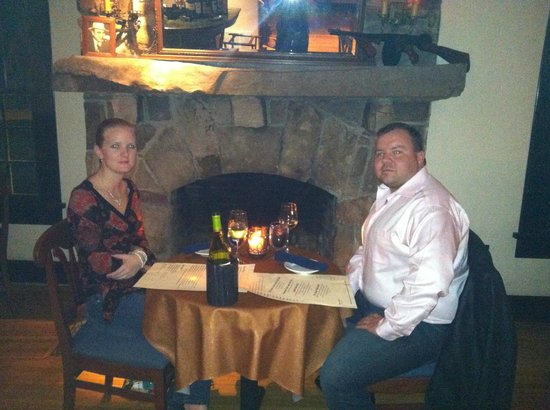 High Point Restaurant: Table by the fire