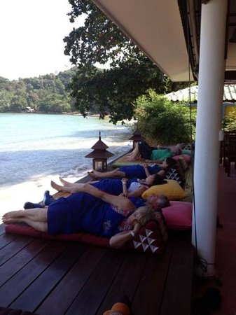 Phuket Thai Cookery School:                   Siesta time after eating our delicious creations!