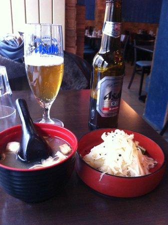 Sumo: entrée soupe et salade