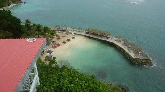 La Toubana Hotel & Spa: en contrebas la plage de l'hotel