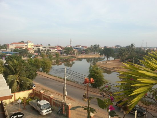Siem Reap Riverside:                   View from 3rd floor roof terrace