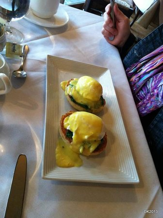 Mirbeau Inn & Spa Skaneateles:                   Eggs Benedict