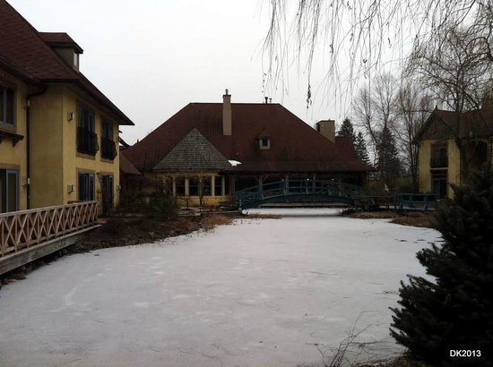 Mirbeau Inn & Spa:                   Frozen Pond in January