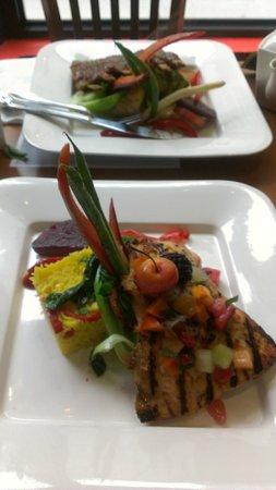 Eat Fresh Be Healthy:                   Organic Salmon and Lamb Rack of Ribs