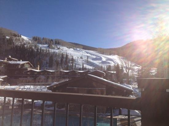 Manor Vail Lodge :                   View from our balcony-half pipe in the distance