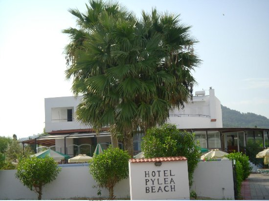 Pylea Beach Hotel:                   View from the sea