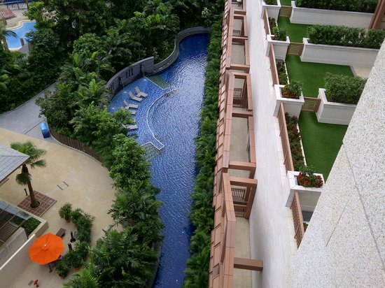 "Resorts World Sentosa - Equarius Hotel:                   ""Private"" pool for rooms on ground level."