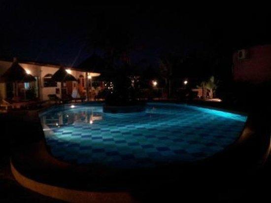 Casa Coco:                   The pool at night