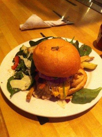 Bayside Bowl: the drunk on lane 9 burger