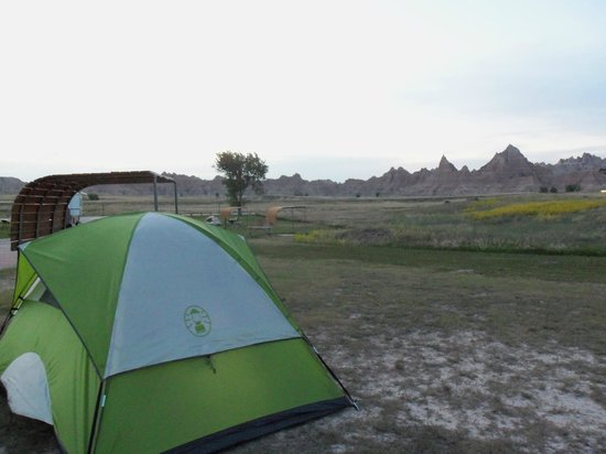 Cedar Pass Campground:                   Our Cedar Pas Campground Campsite