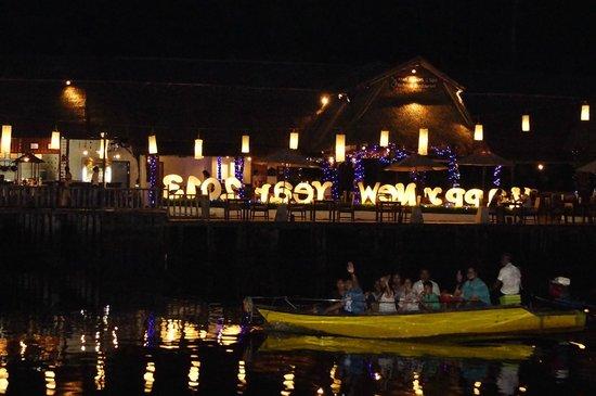 Baan Rim Nam: Night View 2 from decking