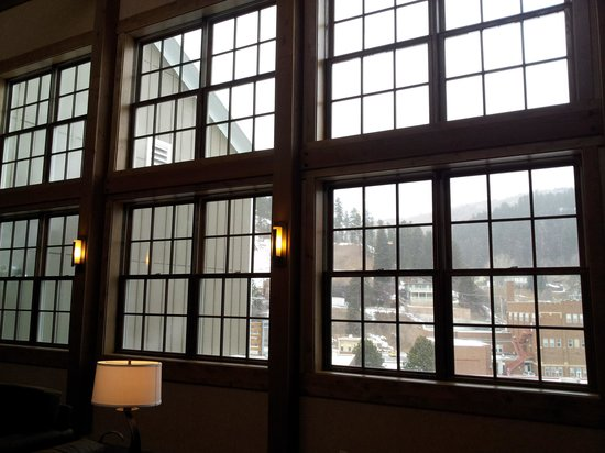 Deadwood Mountain Grand Hotel:                   lobby window view