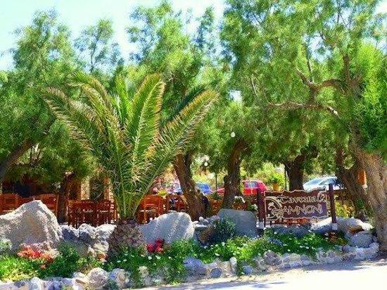 Damnoni Taverna : from the beach