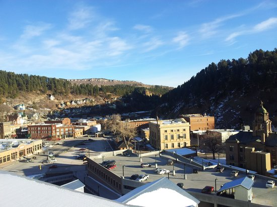 Deadwood Mountain Grand Hotel, a Holiday Inn Resort:                   view from 4th floor