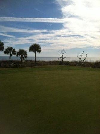Robert Trent Jones Oceanfront Course:                   ocean view from 10th green