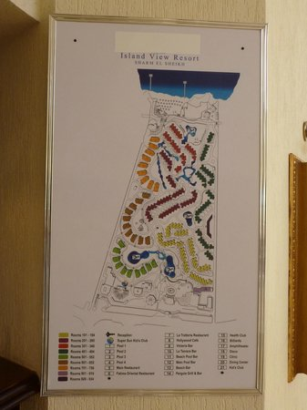 Island View Resort: resort map