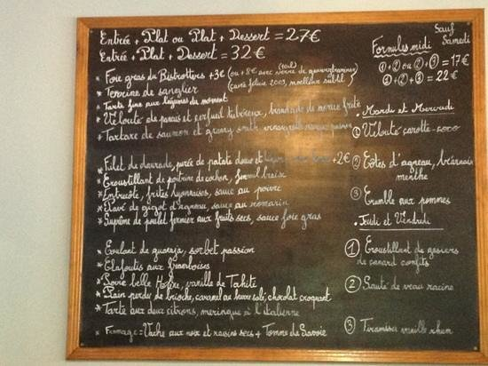le menu - Picture of Bistrotters, Paris - TripAdvisor