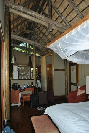 Rhino Post Safari Lodge:                   Inside your room