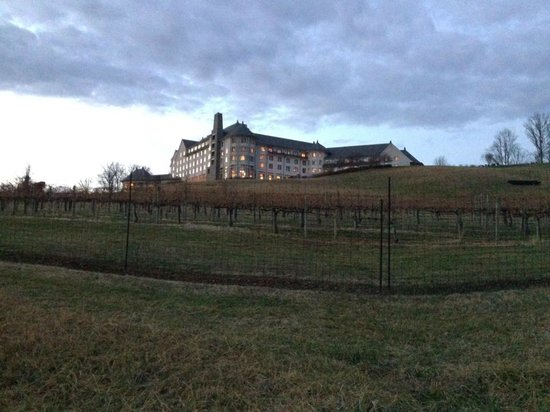 The Inn on Biltmore Estate:                   View of the hotel from the trip down to Antler Hill